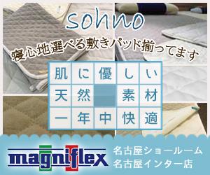 一年中快適なsohnoの自然素材敷きパッド